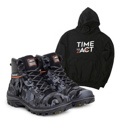 Bota ACT Scavator Camuflada + Moletom Preto - ACT Footwear