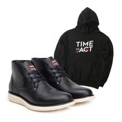 Bota ACT Classic Preto + Moletom Preto - ACT Footwear