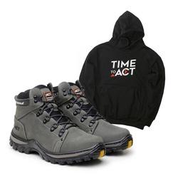 Bota ACT Robust - Cinza + Moletom Preto - ACT Footwear