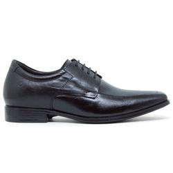 Sapato Social Cosmo Strech Taller Democrata - Pret... - ACT Footwear