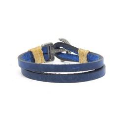 Pulseira Em Couro - Azul Ancora - ACT Footwear