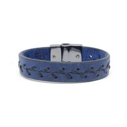 Pulseira Em Couro - Azul Laçada - ACT Footwear