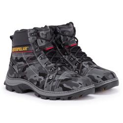 Bota Masculina Caterpillar Camuflada Cinza - Adventure Shoes | Loja Especializada em Calçados Adventure