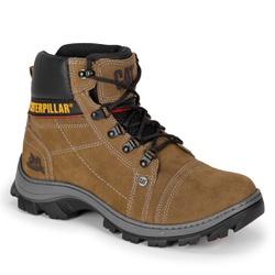 Bota Masculina Caterpillar Caqui em Couro - Adventure Shoes | Loja Especializada em Calçados Adventure