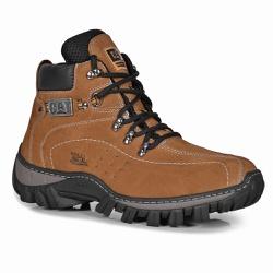 Bota Masculina Caterpillar Bege em Couro - Adventure Shoes | Loja Especializada em Calçados Adventure