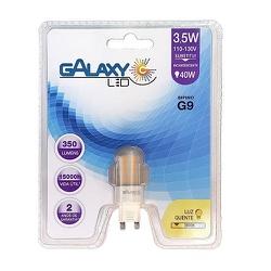LÂMPADA DE LED G9 BI PINO 3,5W 3000k | GALAXY - 13... - ALAMIN IMPORTAÇÃO EXPORAÇÃO LTDA