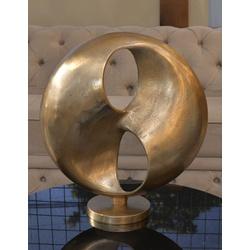 Escultura em Alumínio Circle Dourado-G - IMX14731-... - ALAMIN IMPORTAÇÃO EXPORAÇÃO LTDA