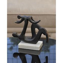 Estatueta em Metal Mãe e Filho 22791-M - 22791-M - ALAMIN IMPORTAÇÃO EXPORAÇÃO LTDA