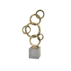 Escultura Dourada Ring - IMX53146-M - ALAMIN IMPORTAÇÃO EXPORAÇÃO LTDA