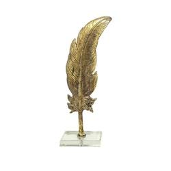 Pena Decorativa em Resina - 550-138 - ALAMIN IMPORTAÇÃO EXPORAÇÃO LTDA