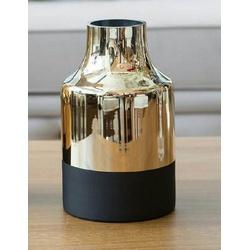 Vaso Dourado em Vidro Metalizado - 050006-M - ALAMIN IMPORTAÇÃO EXPORAÇÃO LTDA