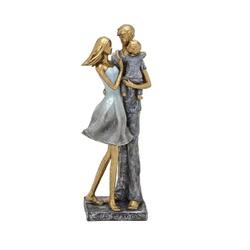 Estatueta em Resina casal com Filho - 257-080 - ALAMIN IMPORTAÇÃO EXPORAÇÃO LTDA