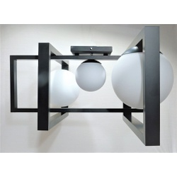 Lustre Plafon Jabuticaba Mondrian - Alamin LE209/3... - ALAMIN IMPORTAÇÃO EXPORAÇÃO LTDA