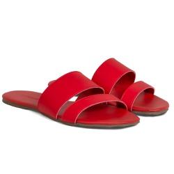 Sandália Rasteira Feminina Vermelha