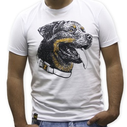 Camiseta Rottweiler Masculino - Branca - ROTTBR - AMOROSSO