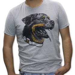 Camiseta Rottweiler Masculino - Mescla Cizna - ROT... - AMOROSSO