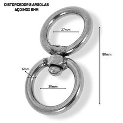 Distorcedor Argola Dupla Inox - DIST01X - AMOROSSO