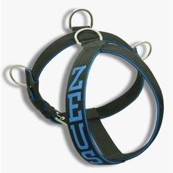 Peitoral Para Cachorro Personalizado Preto e Azul ... - AMOROSSO