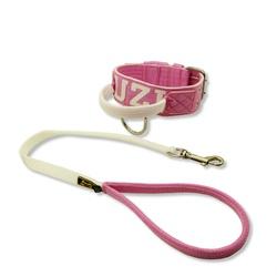 Coleira Para Cachorro Com Alça Personalizada (rosa... - AMOROSSO