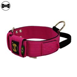 Coleira Para Cachorro Poderosso (Pink e Preto) - M... - AMOROSSO