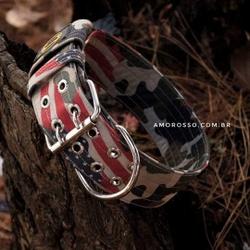 Coleira Amorosso® Camuflado USA - MIL03USA - AMOROSSO