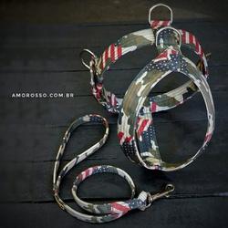 Conjunto Amorosso® Camuflado U.S.A. (Peitoral + Gu... - AMOROSSO