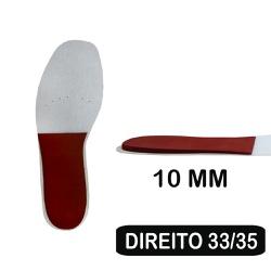 Palmilha de Resina - Cunha de 10 Mm - Pé Direito - DISMETRIA 33-35