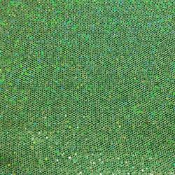 Laminado Sintético PU Glitter Sextavado Verde - 18... - APOLO ARTES