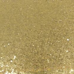 Laminado Sintético PU Glitter Sextavado Ouro - 803... - APOLO ARTES
