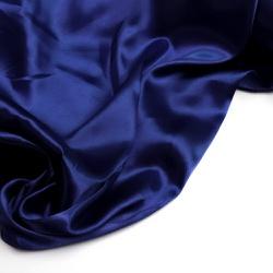 Tecido Cetim Charmeuse Liso Azul Marinho 100% Poli... - APOLO ARTES