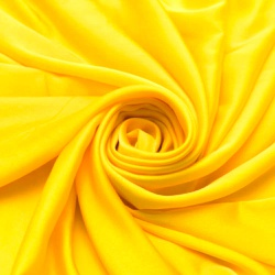Tecido Cetim Charmeuse Liso Amarelo 100% Poliéster... - APOLO ARTES