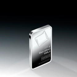 Valcambi 100 g Minted Silver bar - ARGENTUM HEDGE