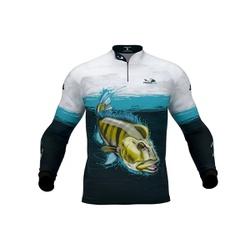 Camisa de Pesca Presa Viva Tucunaré Azul - 17875 - ARUANA FRANCA