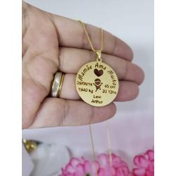 Colar Mandala Banhada a Ouro Dados Nascimento - 9... - AS JOIAS