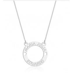 Gargantilha Mandala Simples Prata 925 Dois Nomes V... - AS JOIAS