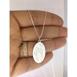Colar Em Prata 925 Pingente Mãe e Filha - 961 - AS JOIAS