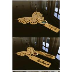Colar personalizado banhado a ouro borboleta com a... - AS JOIAS