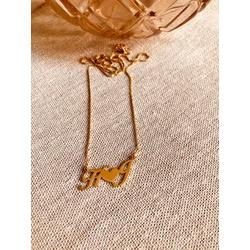 Colar Banhado a Ouro Personalizado Iniciais - 960... - AS JOIAS