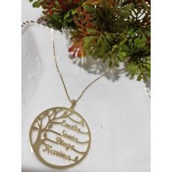 Gargantilha Mandala Banhada a Ouro Árvore da Vida ... - AS JOIAS