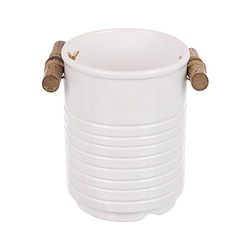 Porta Utensílios Bambu Branco - Astuti Casa