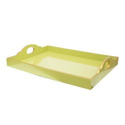 Bandeja Malu Verde Celadon com Filete Dourado GG - Astuti Casa