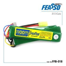Bateria airsoft lipo 11.1-3s-1100mah-20c- fb 018 ... - Airsoft e Armas de Pressão Azsports