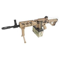 RIFLE DE AIRSOFT ELÉTRICO G&G CM16 MACHINE GUN LMG... - Airsoft e Armas de Pressão Azsports