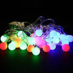 CORDÃO COM 40 BOLINHAS DE LED 127V - LUZES COLORID... - BA Elétrica - Sua Loja de Materiais Elétricos em Manaus