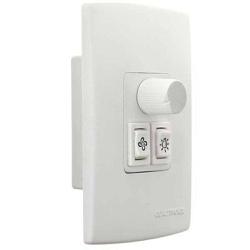 CONTROLE P/ VENTILADOR E LÂMPADA 4X2 QV371 - BA Elétrica - Sua Loja de Materiais Elétricos em Manaus