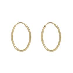 Brinco de ouro amarelo 18k - Argola Oval - B1021 - BAMBINA JOIAS