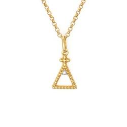 Pingente ouro amarelo 18k com diamante - Nossa sen... - BAMBINA JOIAS