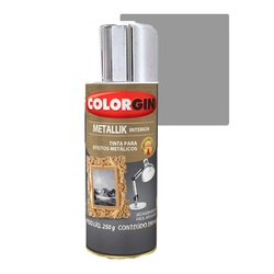 COLORGIN SPRAY METALLIK CROMADO 350ML - Baratão das Tintas