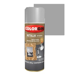 COLORGIN SPRAY METALLIK PRATA 350ML - Baratão das Tintas
