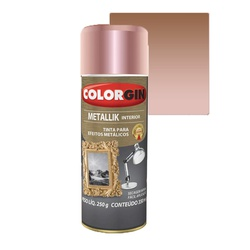 COLORGIN SPRAY METALLIK ROSE GOLD 350ML - Baratão das Tintas